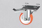 EKR8 kit ruota con piastra e freno