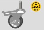 EKR11 - ruota ESD con perno e freno