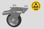 EKR13 - ruota ESD con piastra e freno